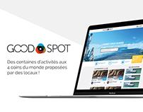 UI design + branding - Good Spot