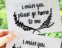 When you miss someone, give them a card