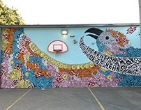 Travis Heights Elementary 75 Year Anniversary Mural
