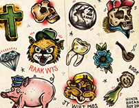 """""""Chappies"""" - Tattoo Flash with a local twist"""