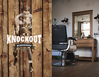 Knockout Barbershop identity