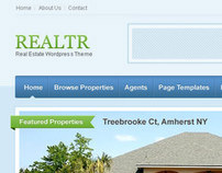 Realtr - Real Estate Listing WordPress Theme UI/UX