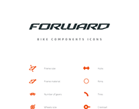 Forward® bikes components icons
