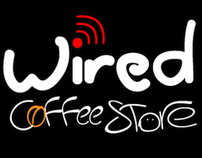 wired coffee store logo