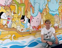 Noah's Ark wall mural