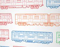Вагоны метро // Moscow subway cars