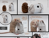 Concept package design - cone for rodents