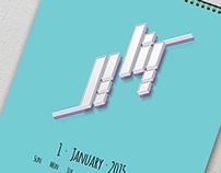 Calendar 2015 Typography