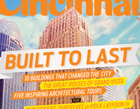"Cincinnati Magazine cover - August 2012 ""Built to last"""