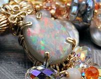 Wonderfully Wicked Opal Overload  Necklace Set