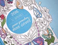 """pour prendre mon envol"" coloring book agenda 2016"