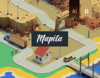 Isometric 3D Map Builder - Mapita