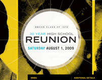 30 year Reunion invite