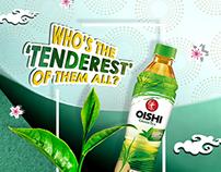 Oishi Green Tea - Social