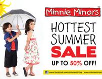 Minnie Minors Summer '12 Sale Campaign Artwork