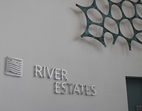 River Estate - Signage design