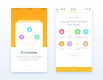 Calendizer | App UI / UX Design