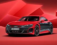 2021 Audi e-tron GT Black Side