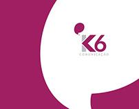 K6 Comunicação - Logotipo, Cartões e Website