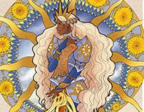 Art Nouveau inspired Fantasy Illustrations