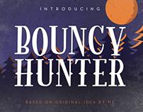 Bouncy Hunter Modern Roman Font