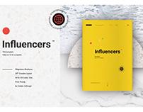 Influencers Bussines Brand Magazine Brochure