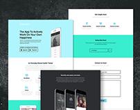 Website concept for iOS app iloveme.