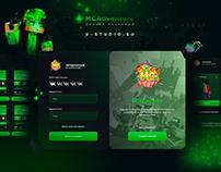 Дизайн лаунчера для MCAdventure!