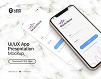 FREE UI/UX App Presentation Mockup - Phone 11