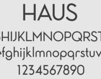 Haus Typeface Design