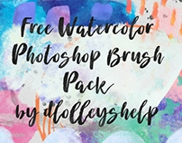 FREE WATERCOLOR PHOTOSHOP BRUSH PACK