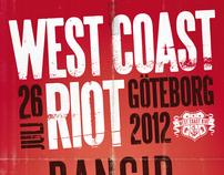 West Coast Riot 2012 festival poster