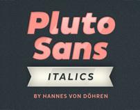 Pluto Sans Italics (Typefamily)
