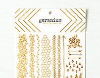 Geranium Tattoo Jewelry | Gold Foil Temporary Tattoos
