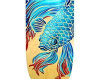 Betta Fish Skateboard