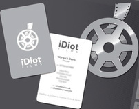 iDiot Films logo and business card design