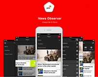 iOS/Android  app - News Observer