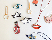 Porcelain Pins and Pendants