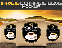 Free Coffee Bag Mock-up