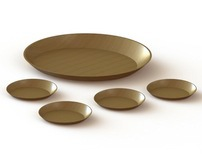 Entertain and Amuse Wood Plates