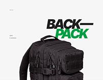 BACKPACK — E-commerce Website