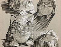 Furby Sketchbook Page