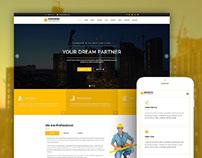 Construction zone a construction WordPress theme