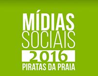 Mídias Sociais - Piratas da Praia Hostel