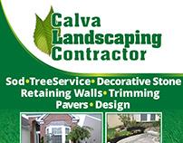 Calva Landscaping Contractor Flyer Design