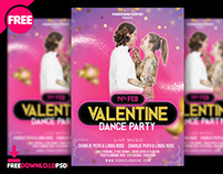 Valentine Day Music Party Flyer PSD Template