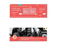 Ticket promotion phase / volleyball club Zaragoza