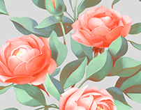 a bouquet of three roses