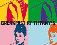 Pop Art poster for Breakfast At Tiffany's