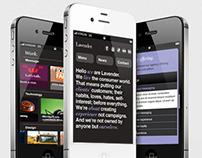 Rebranding Lavender. Mobile.